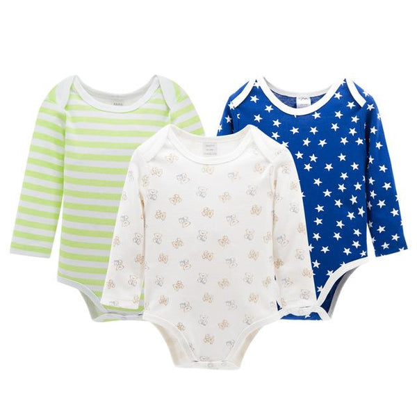 Comfy Cotton Infant Bodysuit Tri-Sets (Quantity = 3) - petitelapetite