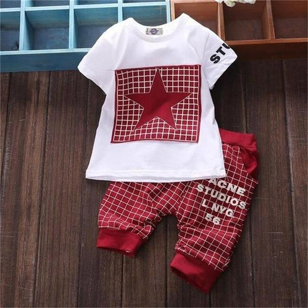 Summer Star Printed T-shirt and Pants Set - 9 moths to 24 months - petitelapetite