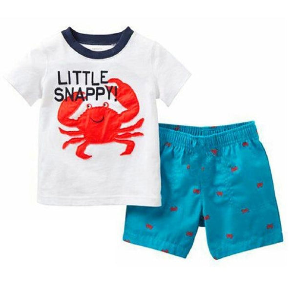 Summer Cotton Tee + Beach Shorts - 2 years old to 7 years old