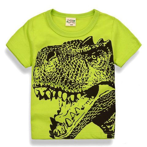 Summer Dinosaur Tee - 2 years old to 7 years old