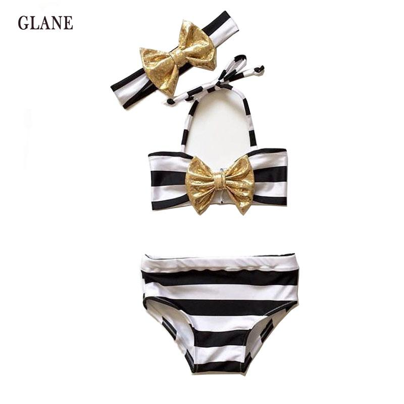 Summer Striped High Waist Swimwear - 2 years old to 7 years old