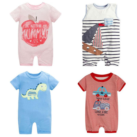 Assorted Summer 100% Cotton Romper - 6 months to 24 months - petitelapetite