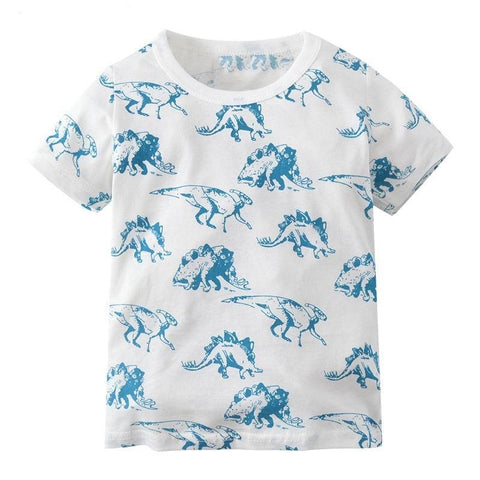 Summer Cartoon Dinosaur T Shirt - 24 months to 7 years old - petitelapetite