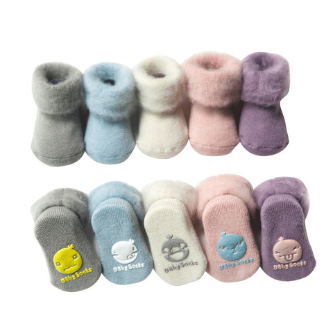 Baby's Warm Winter Sock Boots - ages 0 to 24months - Petite La Petite