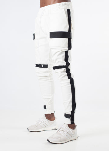 White w/ Black Stripe Scratch V2 Pants