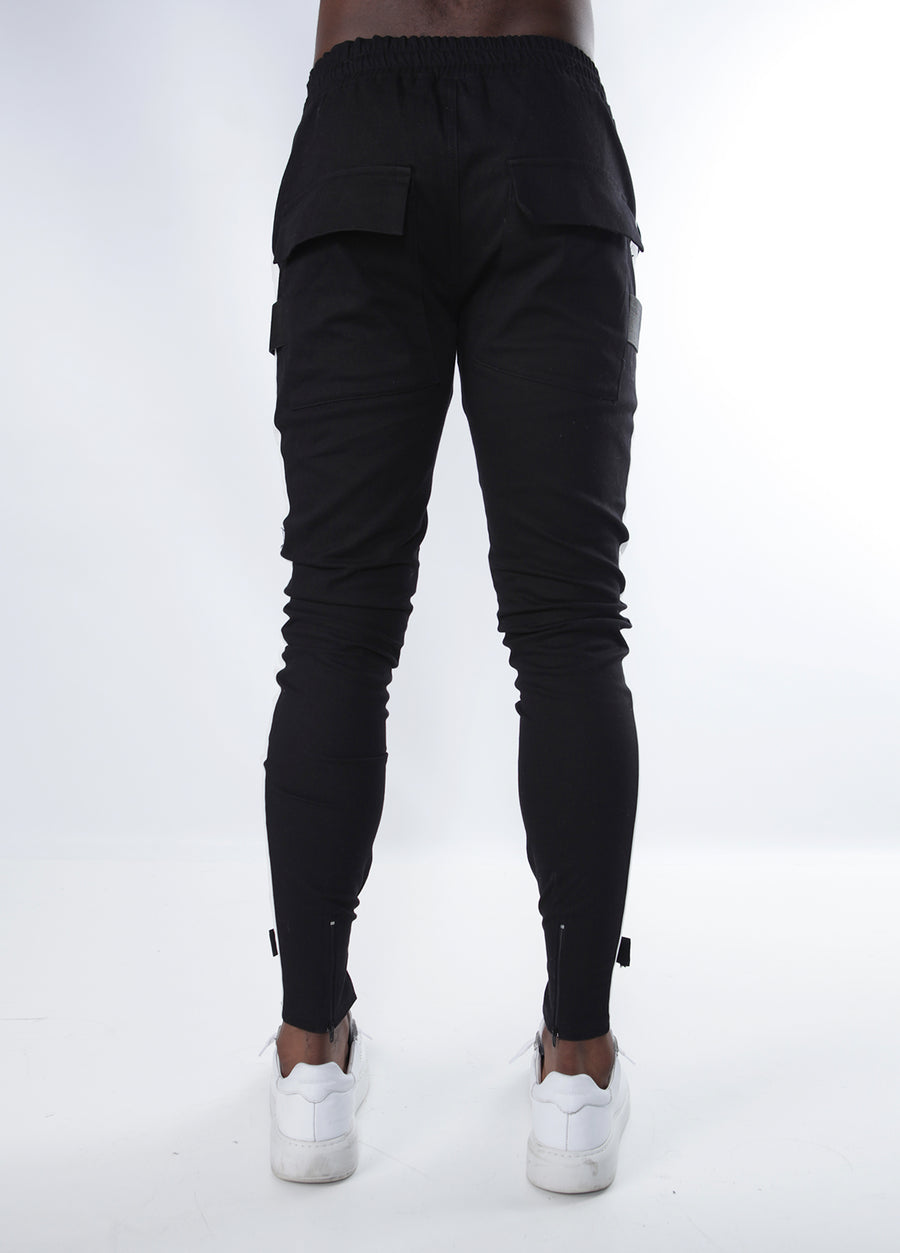 Black w/ White Stripe Scratch V2 Pants