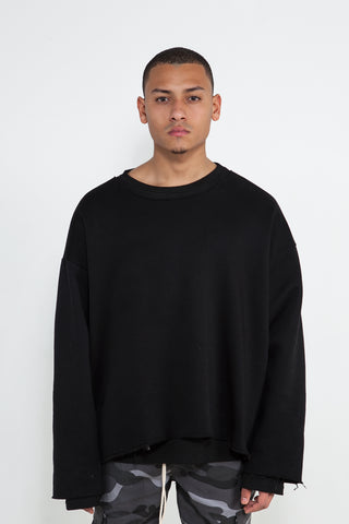 Black RAW Crewneck