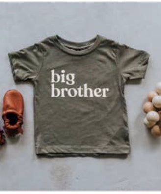 Olive Green Big Brother Shirt
