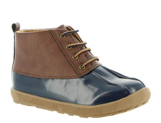 Navy/ Brown Duck Boot