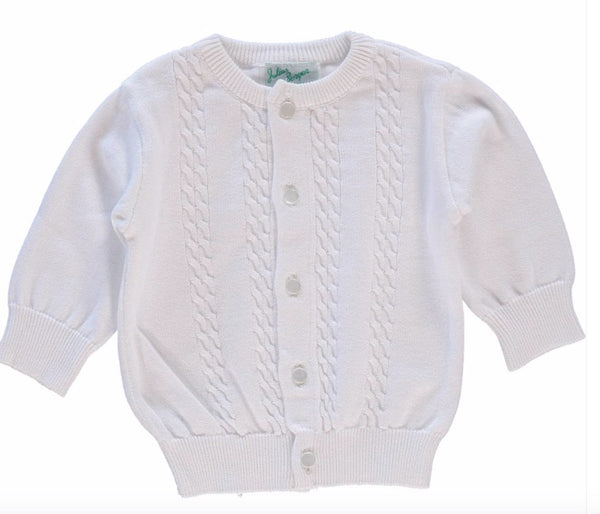 White Cable Knit Sweater - Julius Berger