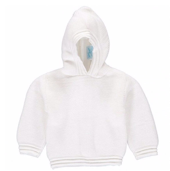 Hooded White Sweater