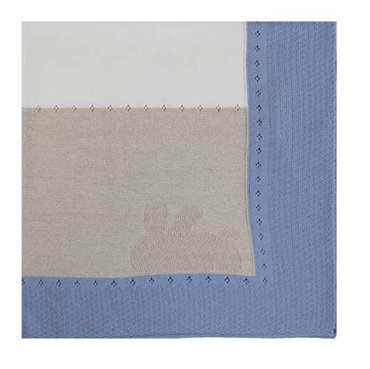 Mayoral Cotton Knit Blanket - Blue