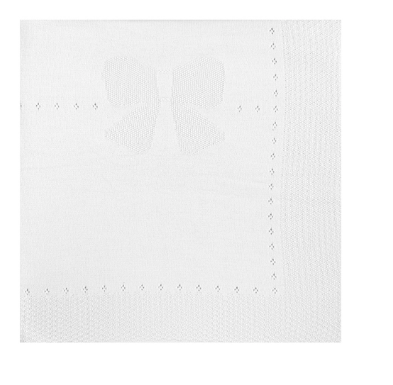 Mayoral Cotton Knit Blanket -White