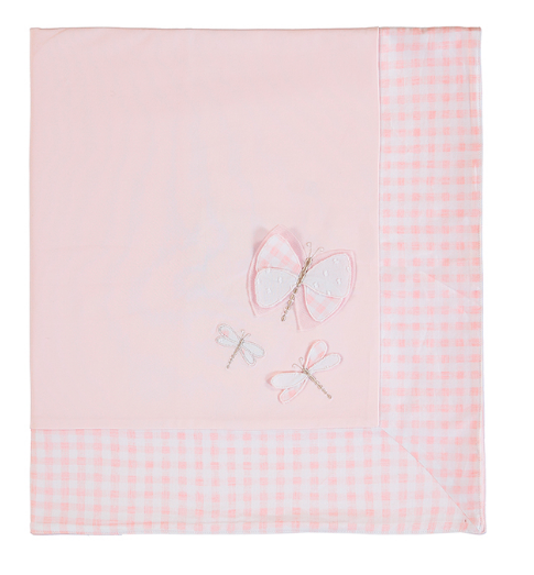 Mayoral Cotton Knit Blanket - Baby Rose