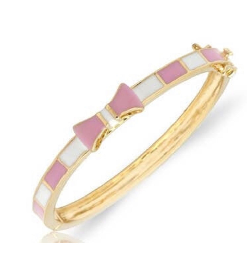 Lily Nily Pink/White Bow Bangle