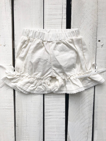Evie's Closet Off White Bloomers