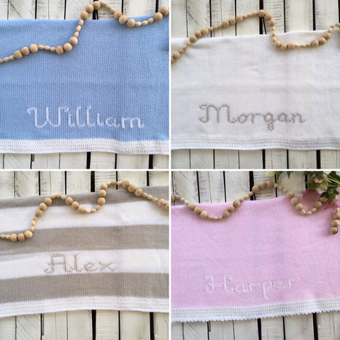*Heirloom Name Blankets
