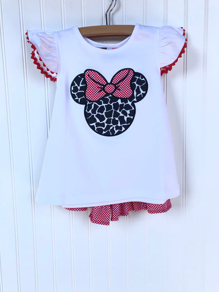 Minnie Mouse Short Set