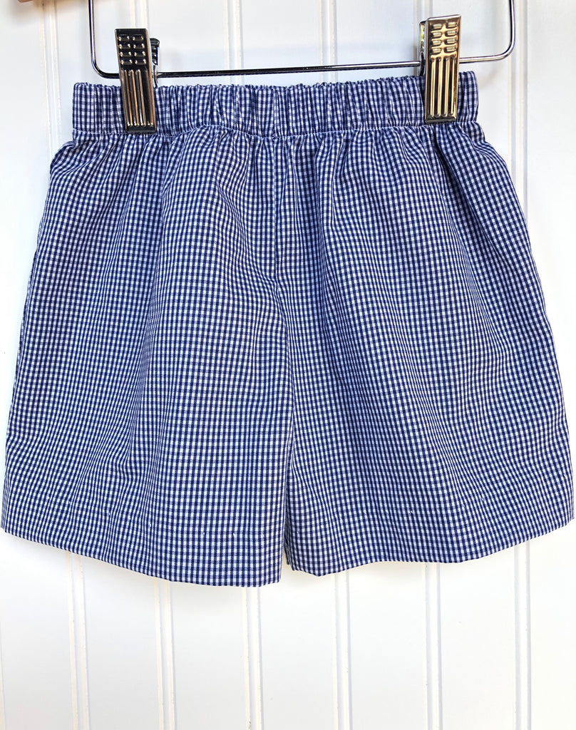 Vive La Fete Navy Check Shorts