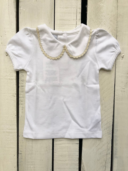 Squiggles Girl White with Ivory Top