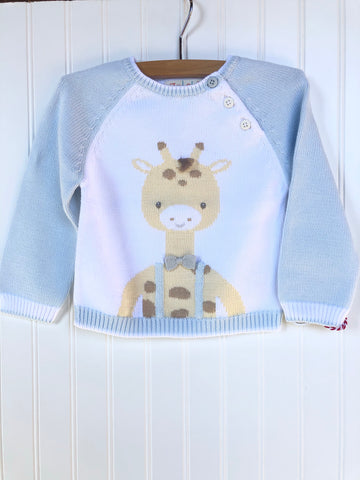 Giraffe Sweater- Blue
