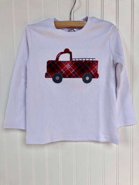 Firetruck Applique T-shirt