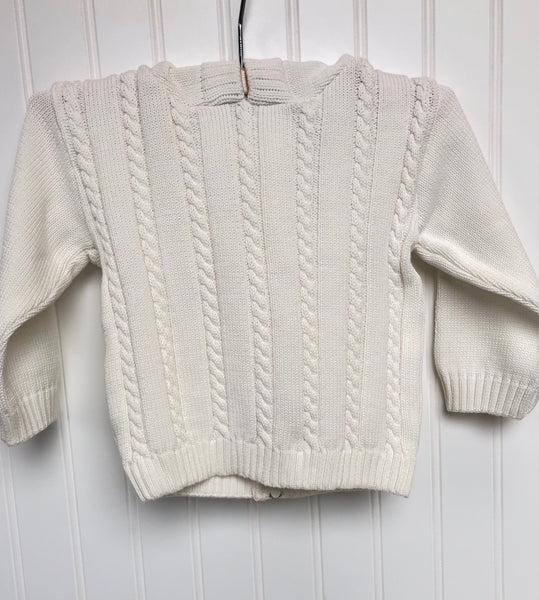 Hooded Cardigan Off White