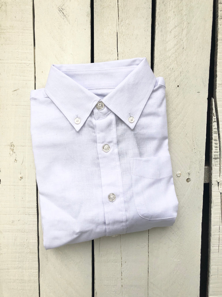 E Land White Linen Button Down