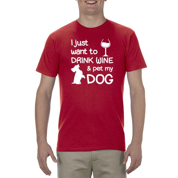"""Drink Wine"" Adult Unisex Short Sleeved Tee"
