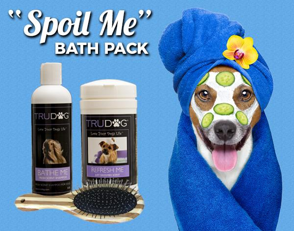 Spoil Me Bath Package - Brush, Shampoo & Body Wipes
