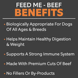 Feed Me Beef Freeze-Dried Raw Superfood 14 oz