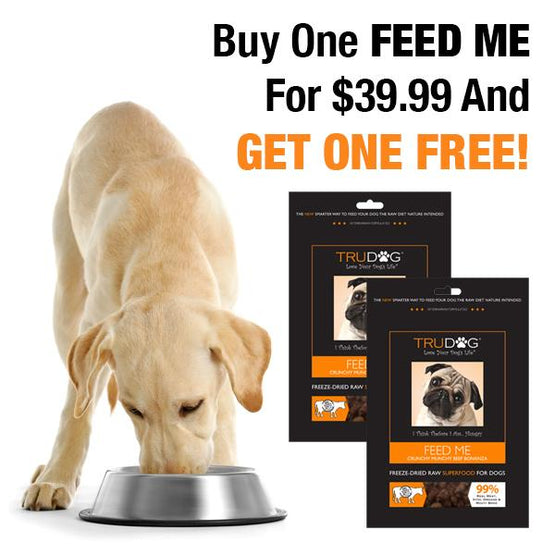FEED ME Raw Dog Food - Crunchy Beef Real Meat Super Food - BOGO