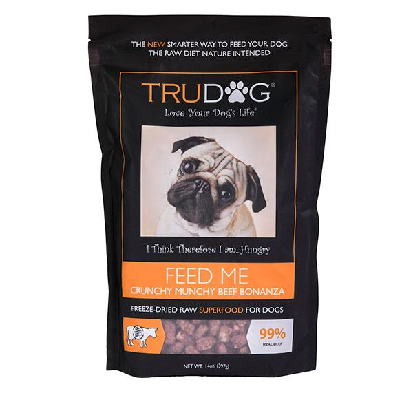 FEED ME Raw Dog Food - Crunchy Beef Real Meat Super Food