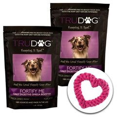 BOGO Fortify Me Freeze Dried Raw Food Topper for Dogs 1 LB. Plus 1 Rope Toy