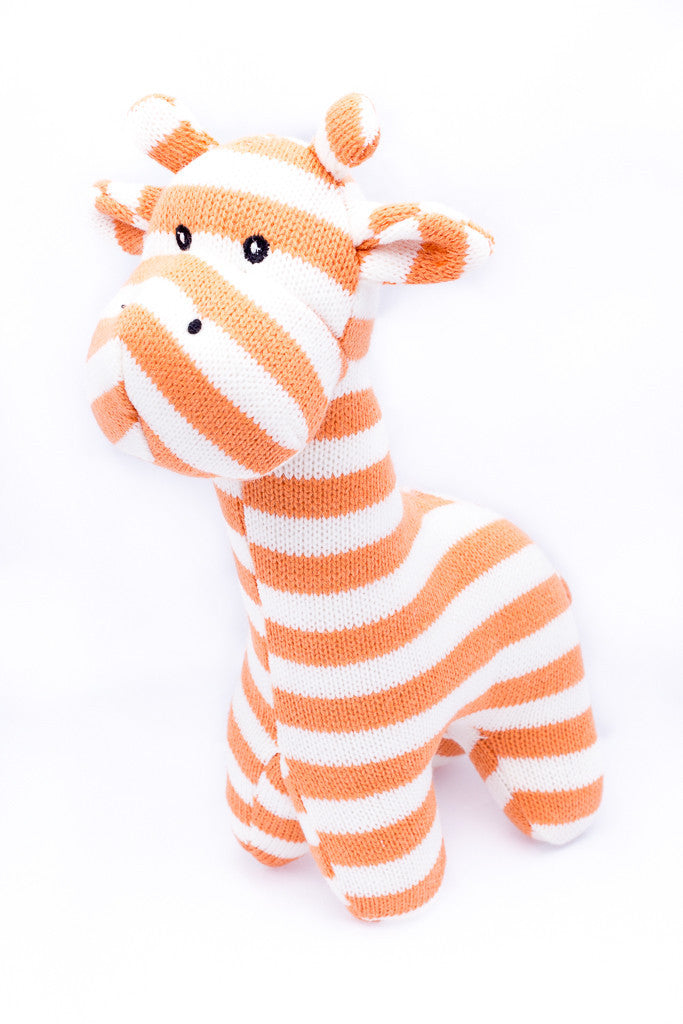 April My BFF Knit & Stripped Giraffe (white and orange)