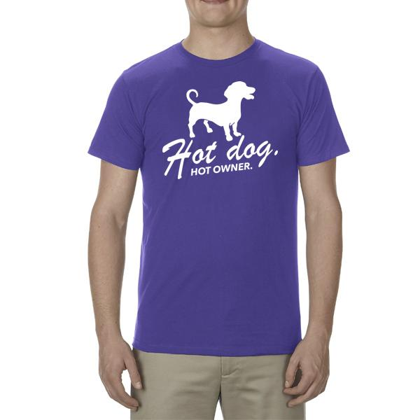 """Hot Dog"" Adult Unisex Short Sleeved Tee"