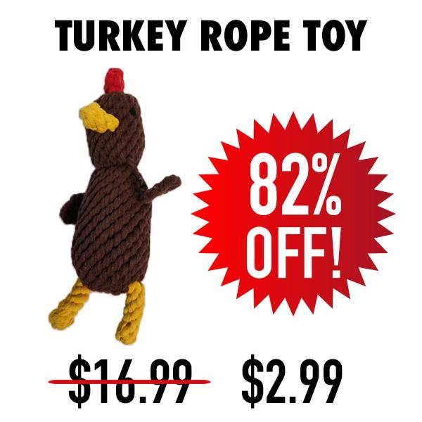 Inventory Blowout Turkey Rope Toy