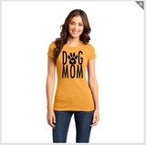 Dog Mom with Paw Print - Women's Tee (Black Lettering)