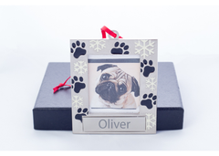 Snow Paws Personalized Ornament