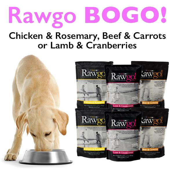 Rawgo Dehydrated Raw Dog Food (2.2lbs – Makes 6 lbs. of Food!) - BOGO