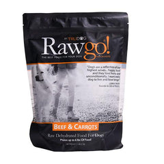 Beef & Carrots Rawgo Dehydrated Raw Dog Food (2.2lbs – Makes 6 lbs. of Food!)