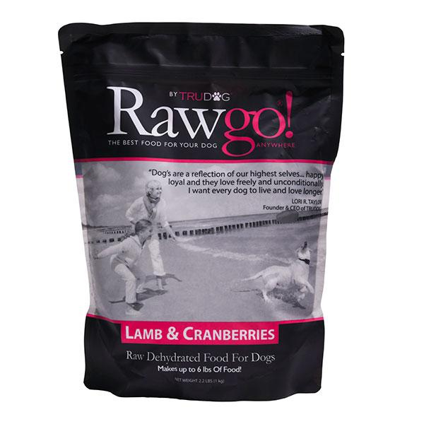 Lamb and Cranberry Rawgo Dehydrated Raw Dog Food  (2.2lbs – Makes 6 lbs. of Food!)