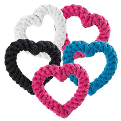 Heart-Shaped Rope Toys - 5 Pack