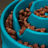 Outward Hound Fun Feeder Slow Feed Bowl- Teal Small- Limited Quantities Available