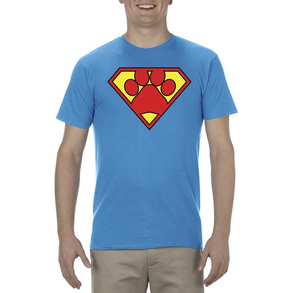 """Super Dog"" Adult Unisex Short Sleeved Tee"