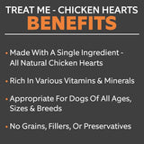 Treat Me Chicken Heart Treats 2 oz