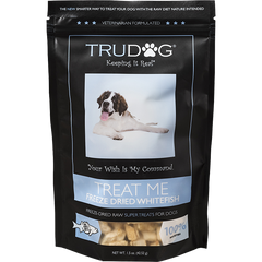 Treat Me Diced Whitefish for Dogs- 1.5oz.