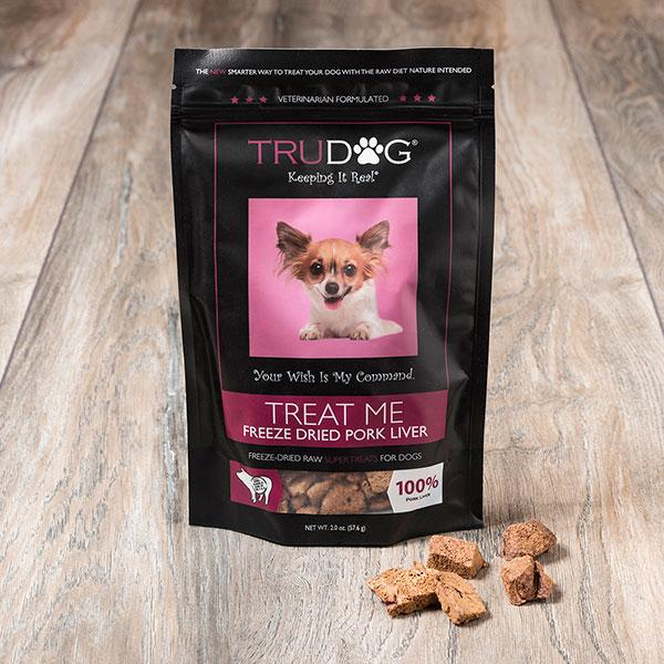 DAILY DEAL Treat Me Freeze Dried Pork Liver Treats for Dogs- 2 oz.
