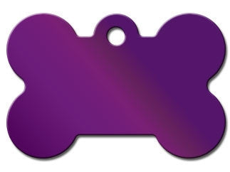 Large Bright Purple Bone Tag