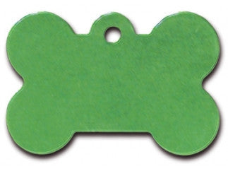 Large Bright Green Bone Tag
